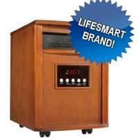 Brand New 1500 Watt Portable Infrared Space Heater - Heats 1000 Sq. Feet  w/ Dark Oak Stain Finish