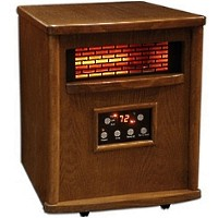 1500 Watt Lifesmart Infrared 4 Element Quartz Heater w/ Remote Control