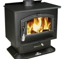 High Quality Mid Size 2000 Wood Stove Warms Up To 2,000 Sq. Ft.