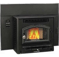 High Quality Multi-Fuel American Harvest Insert Fireplace Warms Up To 2,000 Sq. Ft.