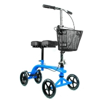 Brand New High Quality Blue Knee Rollator Walker Scooter Cruiser Roller