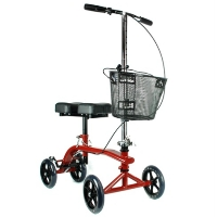 Brand New High Quality Maroon Red Knee Rollator Walker Scooter Cruiser Roller