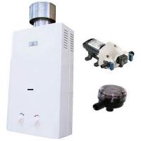 Eccotemp L10 Water Heater, Flojet Pump & Strainer Tankless Water Heater Bundle