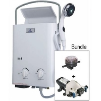 Eccotemp L5 Tankless Water Heater w/ Flojet Pump & Strainer Bundle