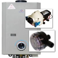 Eccotemp L7 Tankless Water Heater w/ Flojet Pump & Strainer Bundle