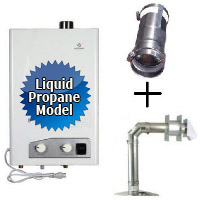 Brand New Eccotemp FVI12-LP Tankless Water Heater Bundle