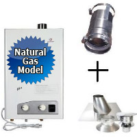 Eccotemp FVI12-NG Tankless Water Heater Bundle