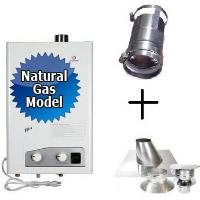 Eccotemp FVI12-NG Tankless Water Heater Bundle