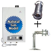 Brand New Eccotemp FVI12-NG Tankless Water Heater Bundle