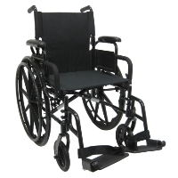 "Brand New High Quality Karman 802-DY 18"" Ultra Lightweight Wheelchair with Elevating Legrest"