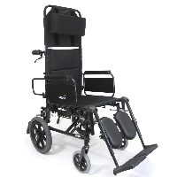 "Brand New High Quality Karman KM5000 22"" Lightweight Reclining Transport Wheelchair with Removable Desk Armrest"