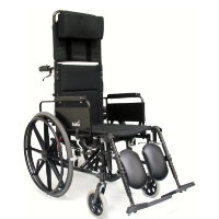 "Brand New High Quality Karman KM5000F 22"" Lightweight Reclining Wheelchair with Removable Desk Armrest"
