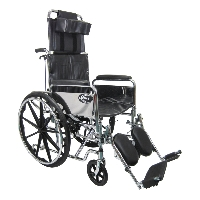 Brand New High Quality Karman KN-880-E – 50 lbs Steel Reclining Wheelchair