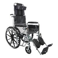 Brand New High Quality Karman KN-880-E – 50 lbs Steel Reclining Wheelchair