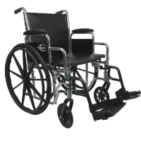 "Brand New High Quality Karman KN-924 24"" Wheelchair with Removable Armrest and Adjustable Seat Height"