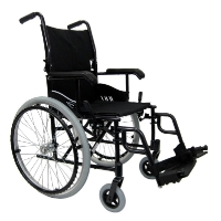 "Brand New High Quality Karman LT-980 18"" 24 lbs. Ultra Lightweight Wheelchair with Elevating Legrest in Black"
