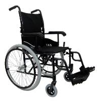 "Brand New High Quality Karman LT-980 18"" 24 lbs. Ultra Lightweight Wheelchair with Elevating Legrest in Black"
