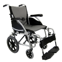 "Brand New High Quality Karman S-115-TP 20"" Seat Ergonomic Transport Wheelchair with Swing-Away Footrests"