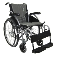 "Karman 18"" S-Ergo 115 Ultra Lightweight Ergonomic Wheelchair with Swing Away Footrest and Mag Wheels"
