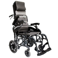 Brand New High Quality Karman VIP-515-TP-E – Tilt in Space Reclining Transport Wheelchair with Elevating Legrest