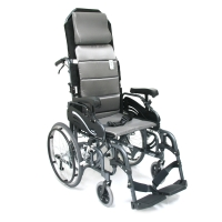 "Karman VIP-515-E – Tilt in Space Lightweight Reclining Wheelchair with 20"" Rear Wheels and Elevating Legrest"