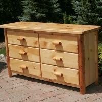 Brand New Rustic Furniture 6 Drawer Dresser