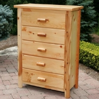 Brand New Rustic Furniture 5 Drawer Dresser