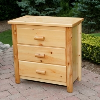 Brand New Rustic Furniture 3 Drawer Dresser