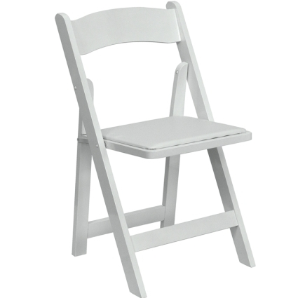 High quality package of 50 padded white wood frame folding for Good quality folding chairs